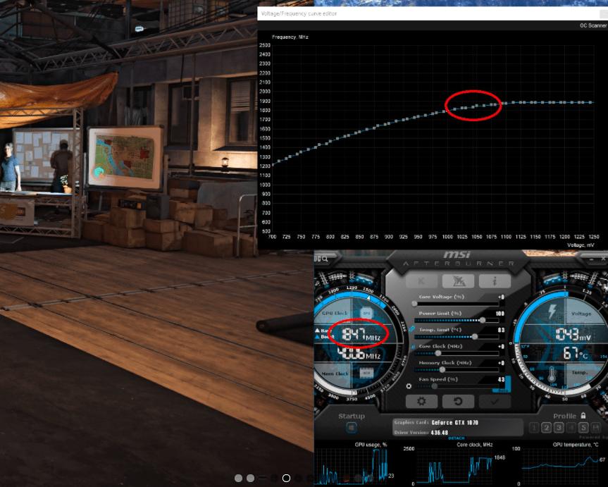 undervolting GPU game display